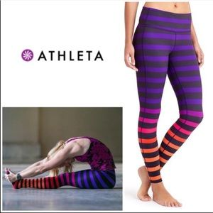 Athlete Chaturanga Striped color block yoga leggin
